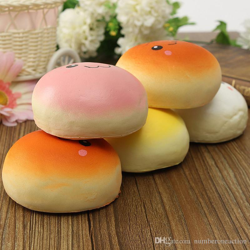 2016 New Arrival Cute 10cm Bun Squishy Kawaii Buns Bread Charms Key Bag Cell Phone Straps