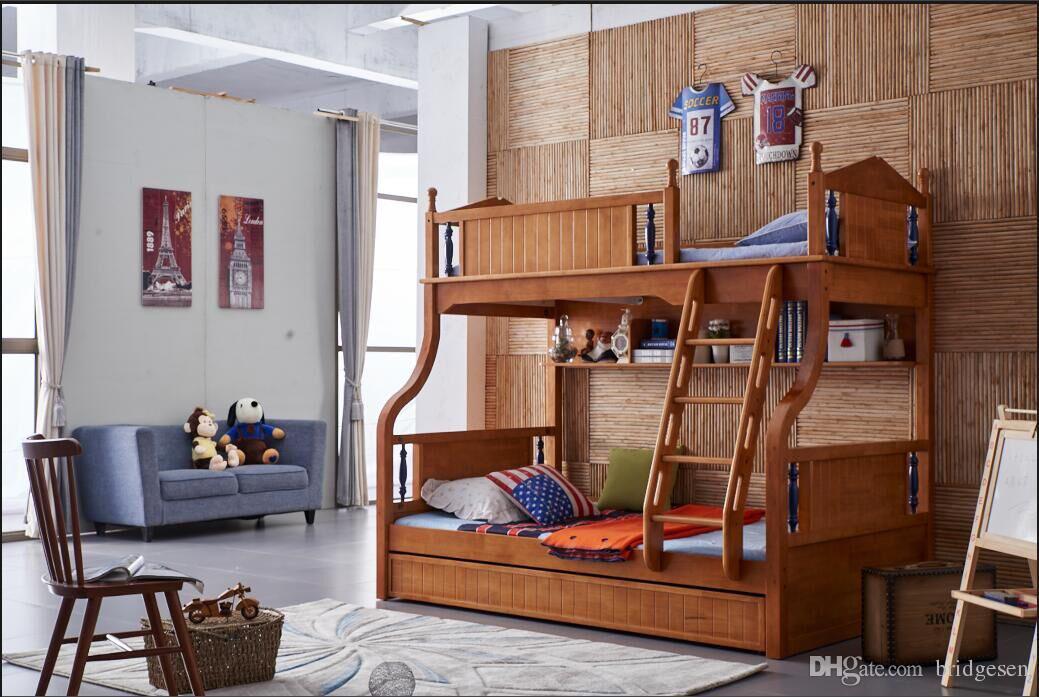 2018 youth kids teenage children soild oak wood natural - Solid wood youth bedroom furniture ...