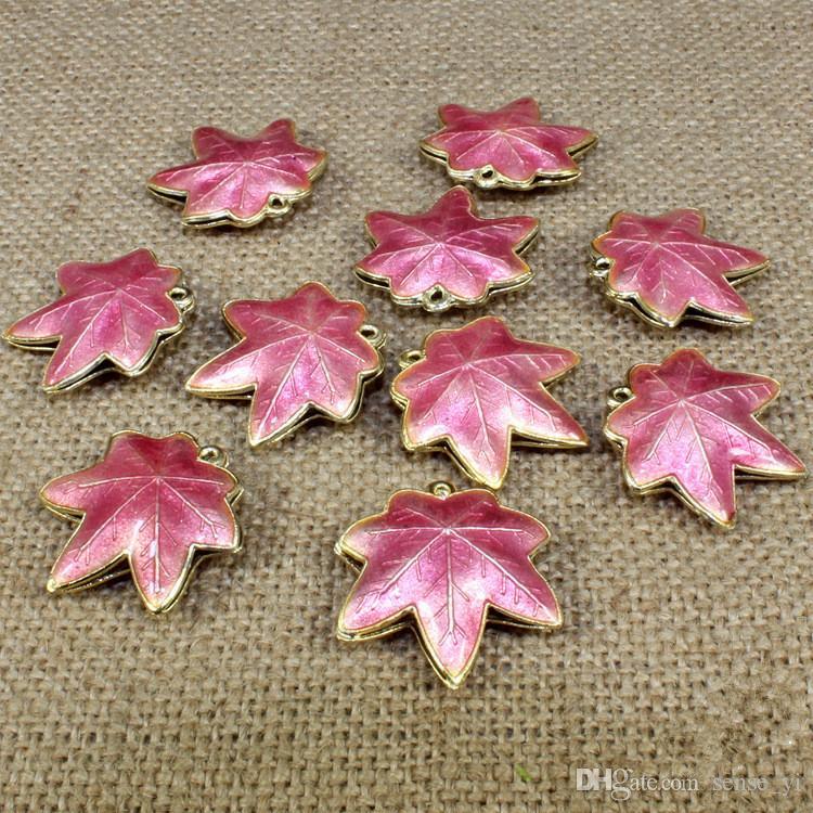 Liść klonowy cloisonne koraliki wielokolorowe filigran srebrny niebieski spacer luźne koraliki dla DIY biżuteria bransoletka rzemiosła Charms Cloisonne koraliki