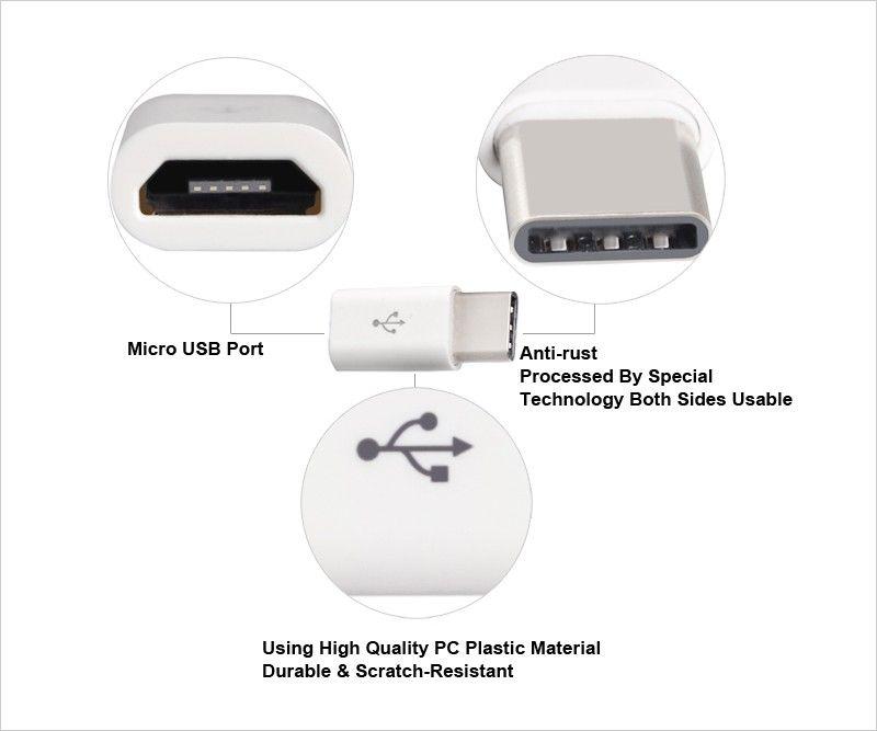 Miglior prezzo Micro USB 2.0 da 5 pin femmina a USB 3.1 Tipo-C connettore maschio Adattatore di dati Adattatore USB tipo C