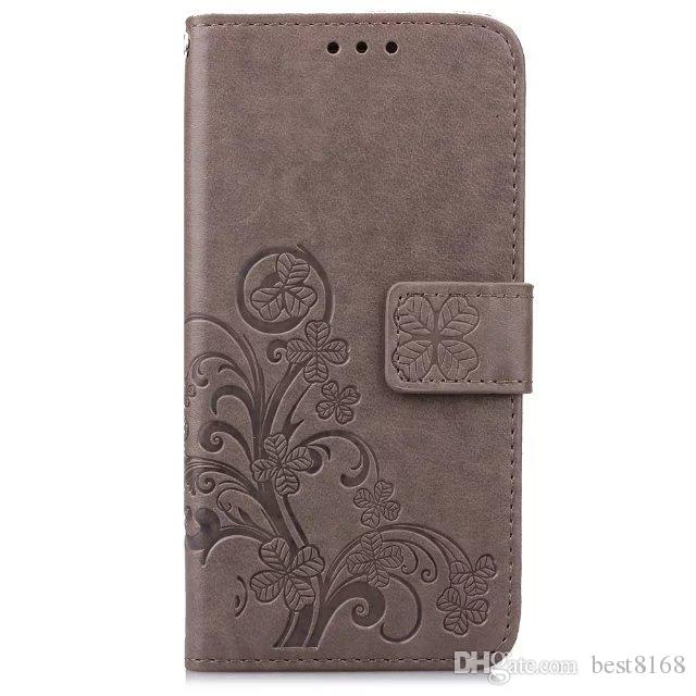 Lucky Clover Flower impronta Leather Wallet Holder LG K61 K51S Stylo6 stylo5 stylo 6 5 K40S K50S flip Slot copertura di credito della carta di identificazione Pouch
