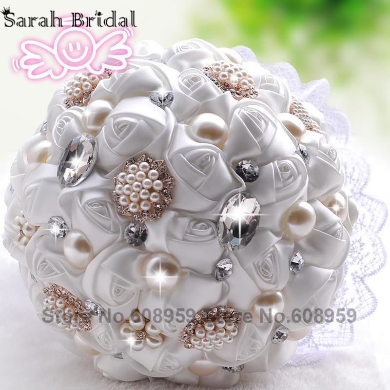 Wholesale In Stock Gorgeous Pealrs Crystal Wedding Bouquet ...