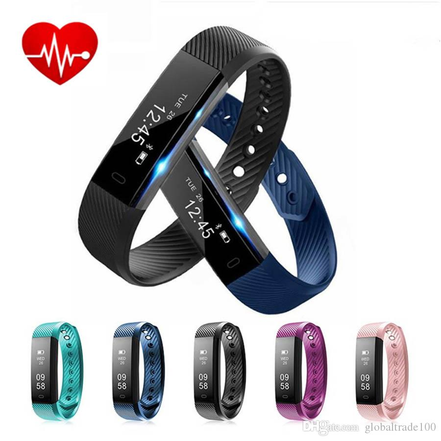 ID115HR Bluetooth Smart Wristband Heart Rate Monitor IP67 Waterproof Sport Fitness Smart Bracelets ID115 HR For Android IOS Cell Phone