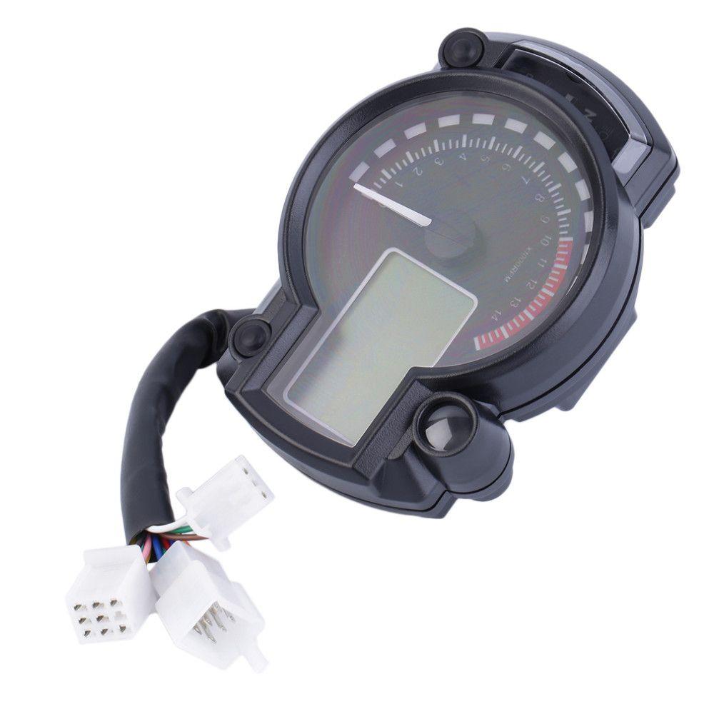 15000 rpm Moderno KOSO RX2N similar LCD digital velocímetro de la motocicleta velocímetro ajustable MAX 299KM / H