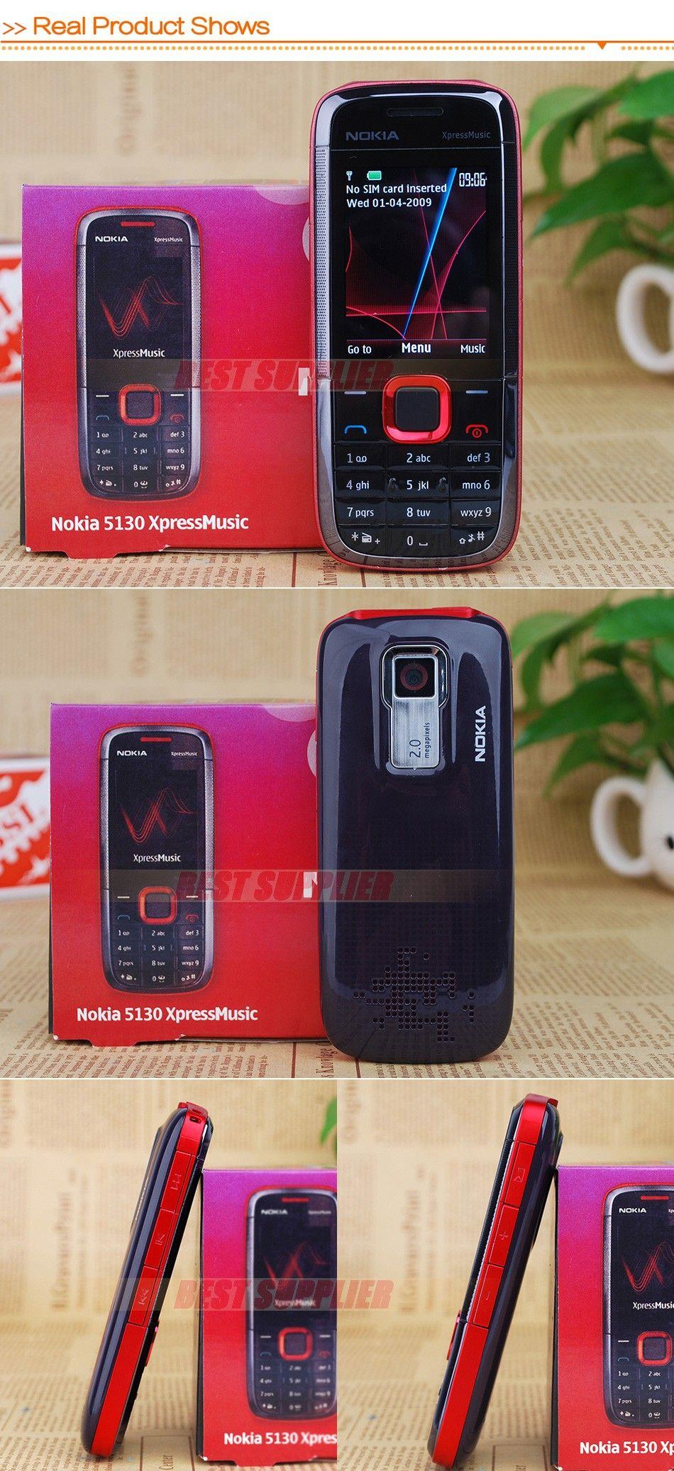 Оригинальное лучшее качество Nokia 5130 XpressMusic Русская клавиатура одноядерный отремонтированный мобильный телефон