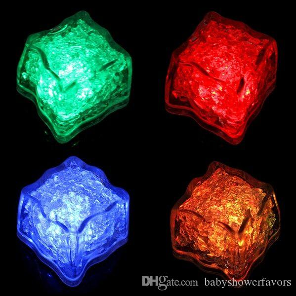 6Colors-12Pcs/lot White LED Waterproof Ice Cubes Light For parties and light up wedding tables and centerpieces with stunning light up cubes
