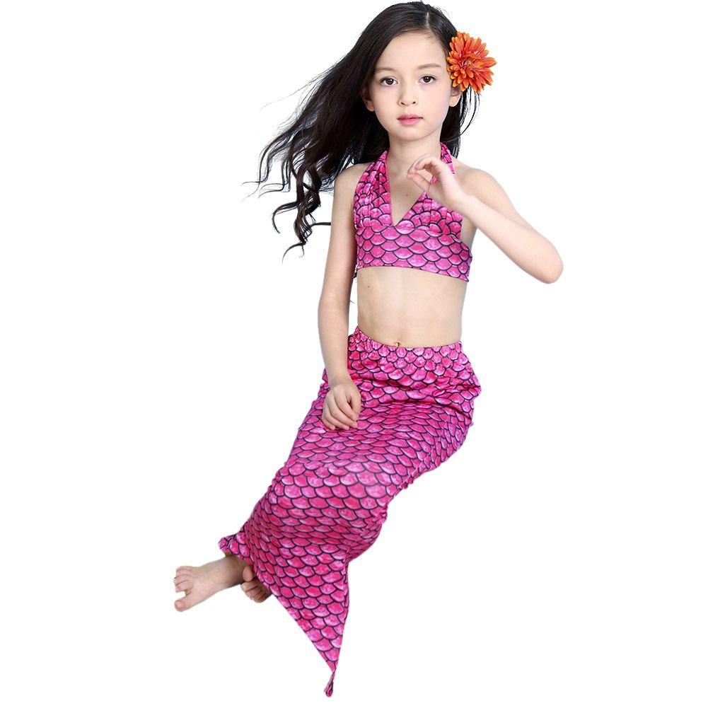 2018 2016 mermaid children swimwear kids bikini girls best love mermaid tail swimmable swimming princess costume set from mom_bebe 1387 dhgatecom - Mermaid Pictures For Kids
