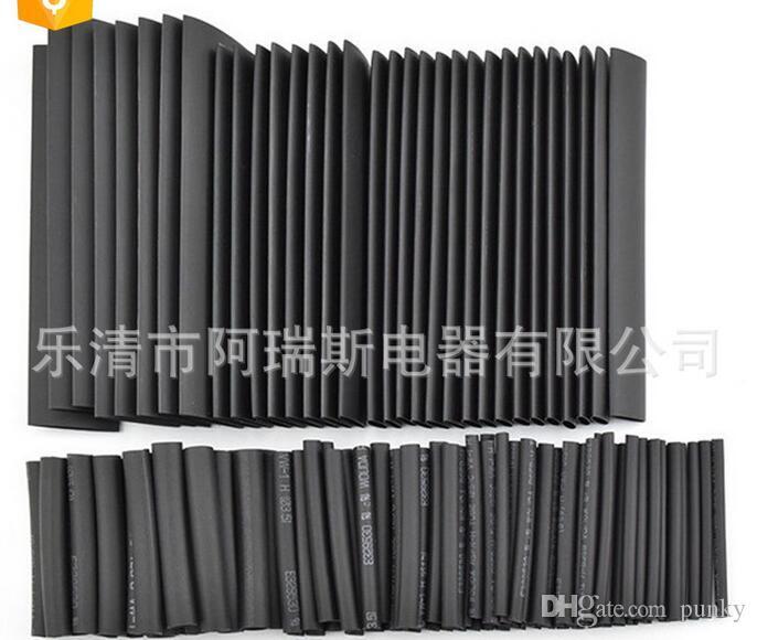 127 шт 2:1 полиолефин термоусадочной трубки трубки трубки оберните провод кабель набор комплект