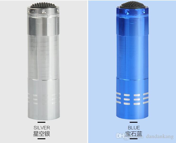 Mini 9 LED luzes de emergência lanterna tocha da liga de alumínio da lâmpada LED fonte de luz LED lanterna portáteis tochas lanterna ao ar livre