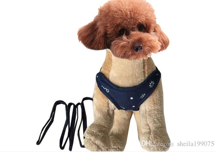 Collari cani Guinzagli Pet Dog Doggie Puppy Guinzagli Prua Cinghie Cinghie Cinghie, Professional Back Protect for Dogs