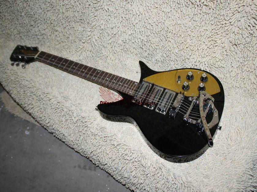 Custom Black 325 330 Guitar gold pickguard color 325 330 Custom 3 Pickups Guitarra Eléctrica Envío gratis
