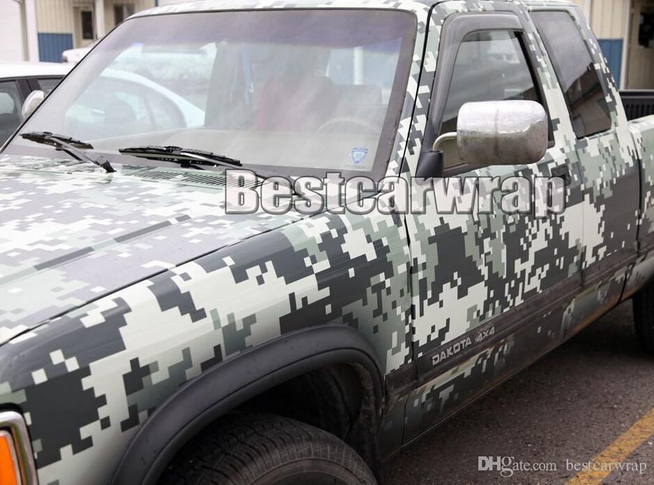 2018 Militärgrün Digital Camo Vinyl Auto Wrap PELLICOLA Film Mit Luftblase  Freies Pixel Camouflage Car Wrapping Folie 1,52x10   20m   30 MT   Rolle f7931026a6