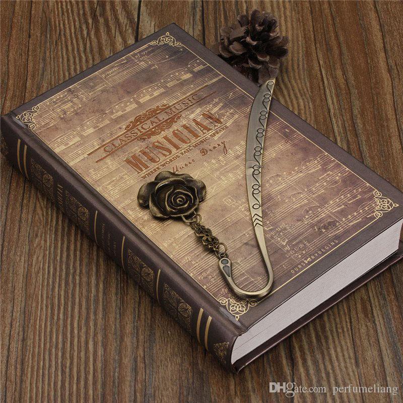 Retro libro Mark Vintage lega di metallo rosa bronzo segnalibro documento etichetta festa di nozze favore regali ZA4443