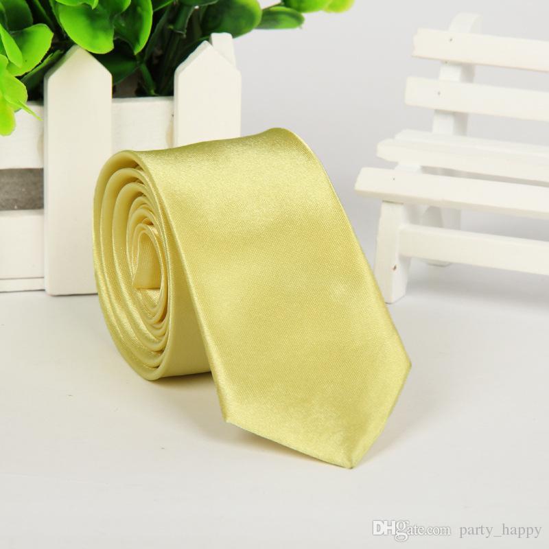 Skinny Slim Tie Tinta unita Tinta unita Uomo Jacquard tessuta Festa nuziale Cravatta Business Leisure Groups Tie Han Edition