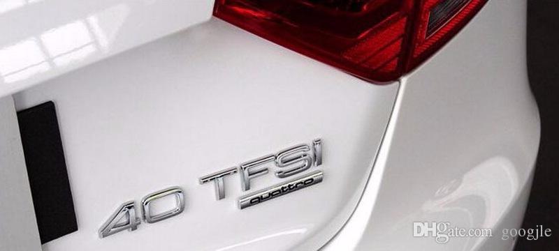 Nuevo estilo del coche Quattro Logo Pegatina Quattro Insignia Chrome Accesorios para AUDI A3 A4 A5 A6 A7 A8 S3 S4 S5 S6 Q3 Q5 Q7 TT R8 RS