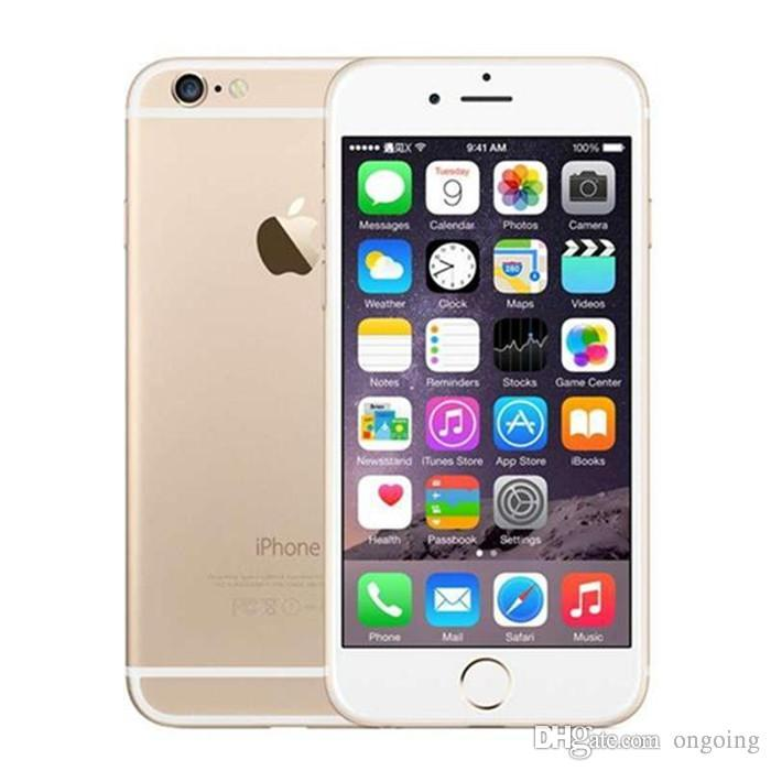 "Original IOS 11 Apple IPhone 6 support real 4G without Touch ID fingerprint 16GGB 64GB IOS phone 4.7"" i6 Smartphone Refurbished"