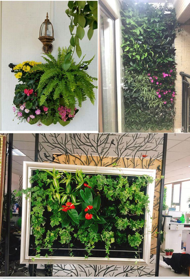 New Indoor Outdoor Wall Hanging Fioriera verticale Felt Plant Pot crescere fiori Borse 9 tasche fioriere casa 0,5 M * 0,5 M WX-P04