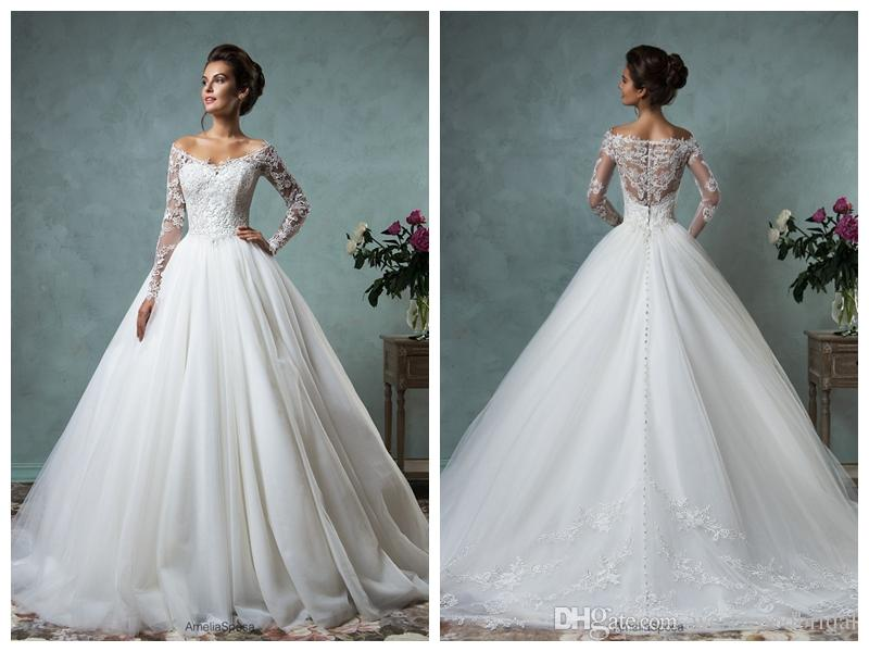Lace Ball Gown Wedding Dresses: 2018 Wedding Dress Amelia Sposa Nova Lace Ball Gown