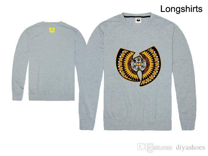 2018 venda quente longa camiseta homens e mulheres amor wutang manga comprida t camisa impressão plus size xxl top quality hip hop streetwear atacado