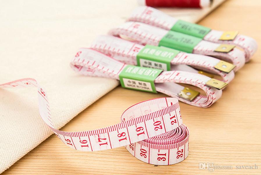 60 дюймов / 1.5 м тело измерения линейка, швейная портная лента, мера измерения мягкая плоская лента бесплатная доставка
