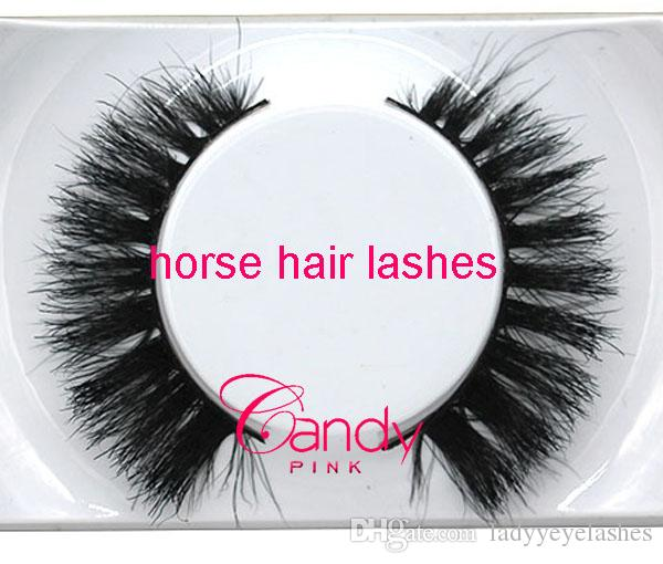 012 Noir 100% Vrai Cheveux de Cheveux Épais Faux Cils Faux Cils faux Cils naturels Cheveux de Cheveux Naturel Épais Croix Croix en désordre