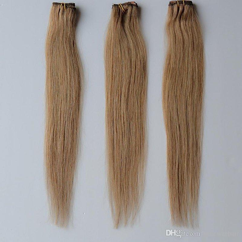 Medium Ash Brown 8 One Piece Clip In Extensions 100 Real Hair