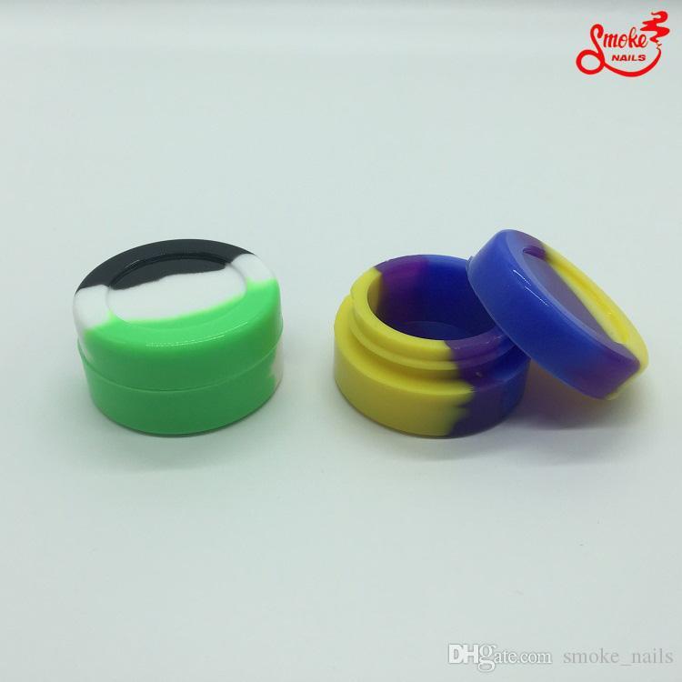 A Whole 10/14/19 milímetros Domeless Gr2 Titanium prego Carb Cap Dabber Slicone Jar para Bong vidro reciclador bong frete grátis