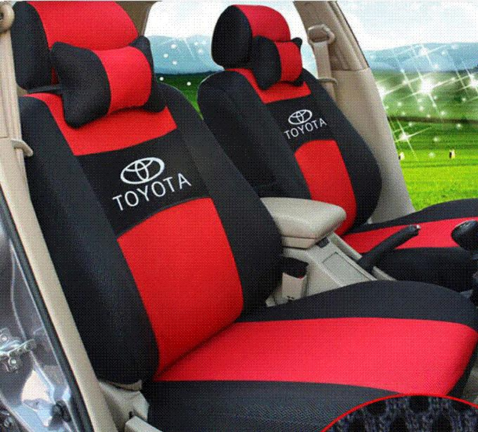 Embroidery Logo Car Seat Cover Front Amp Rear 5 Seat For Toyota