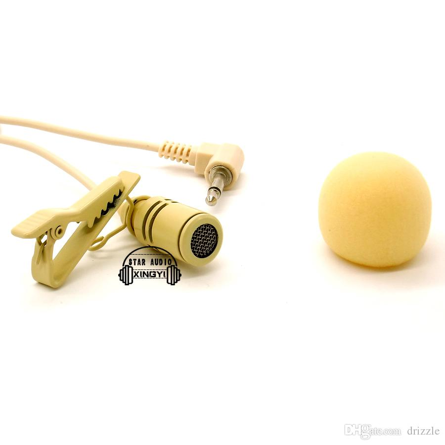 3.5mm Connector Tie Clip On Lapel Lavalier Microphone Mic Mike Microfone Lapela For Teaching Meeting Sales Promotion Tour Guide