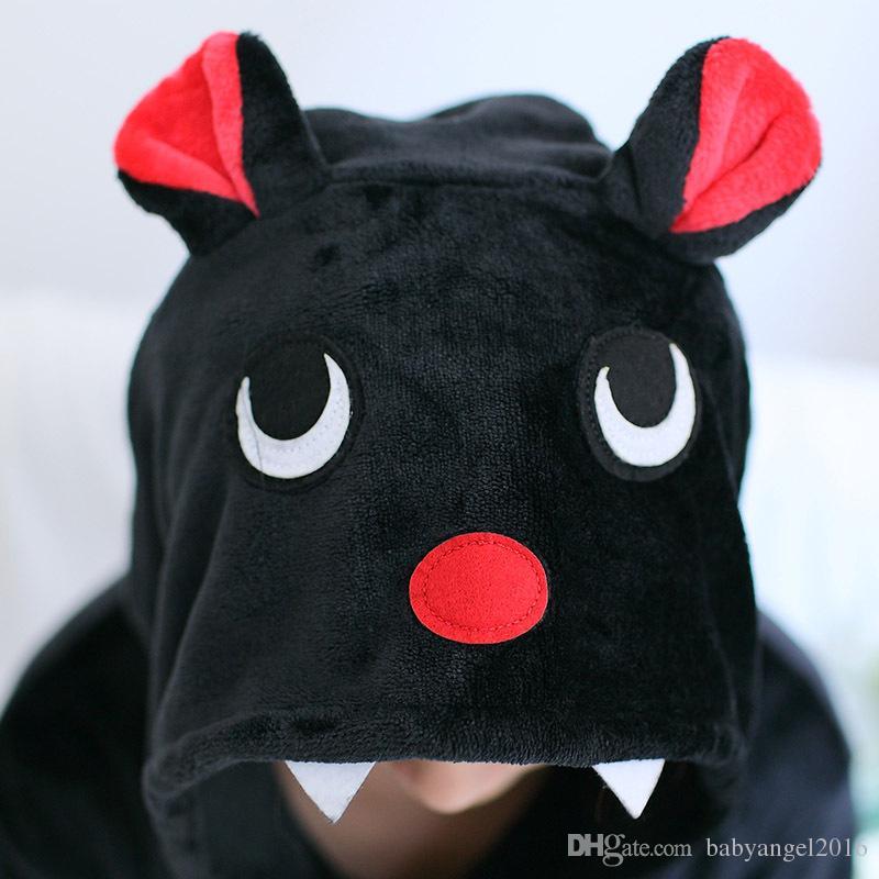 Unisex adulto Cosplay Pigiama Animal Bat Pigiama Kigurumi Costume di Halloween