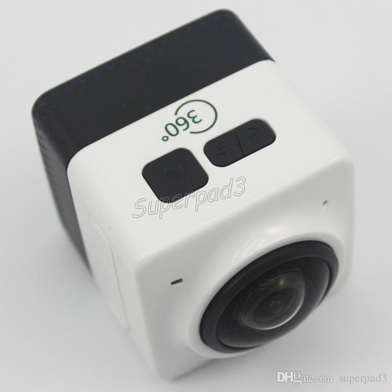 Mini Sport Camera CUBE 360 720P 360 Degree Panoramic VR Camera Build-in WiFi 1280*1024 28fps H.264 Action Camera DHL