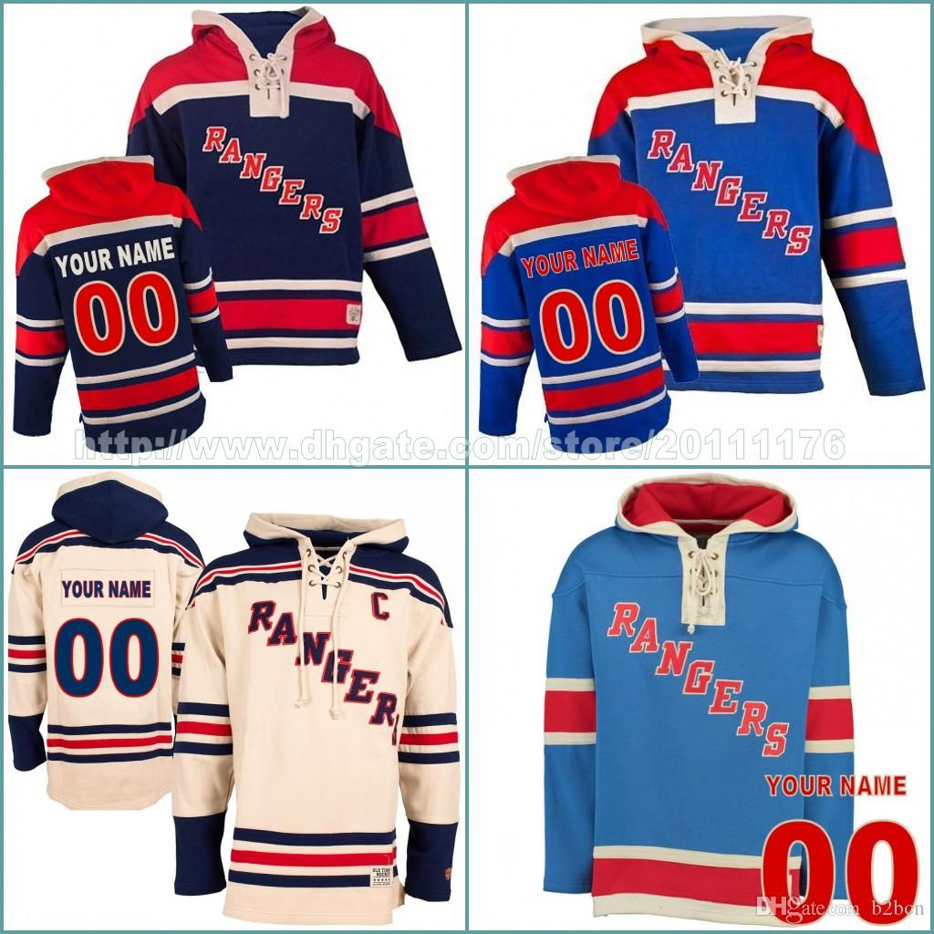 huge selection of 887ee 83b63 Felpe personalizzate da uomo Felpe New York Rangers Maglie personalizzate  Hockey Jersey Felpe con cappuccio Nome numero Inverno Felpe personalizzate  ...