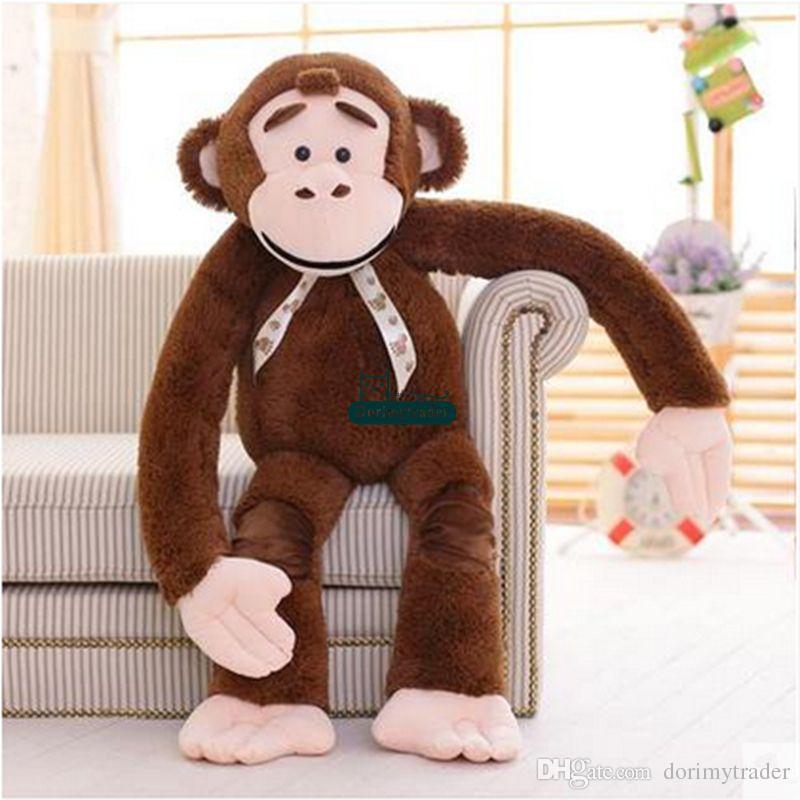 Dorimytrader 135cm Jumbo Stuffed Animal Orangutan Toy Plush Soft Funny 53'' Cartoon Monkey Doll DY61062