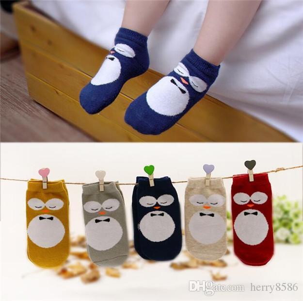 New Kids Owl Socks Baby Boy Girl Cotton Warmers Stocking Children