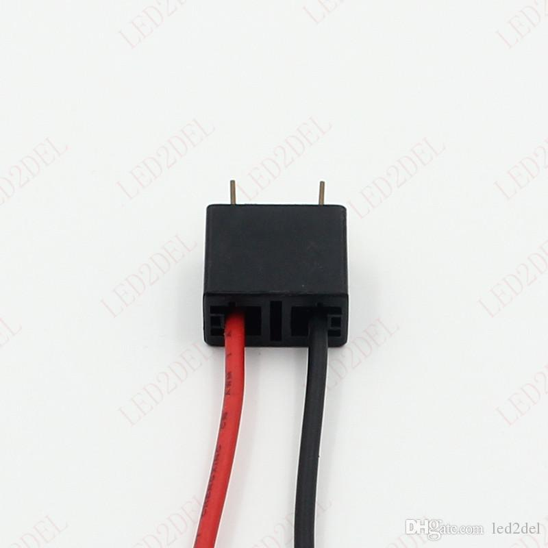 H7 12972 Head Lights Lamps Male 2-Pin Plugs Wires Adapters Plastic Wiring Connectors Socket Harness Plug