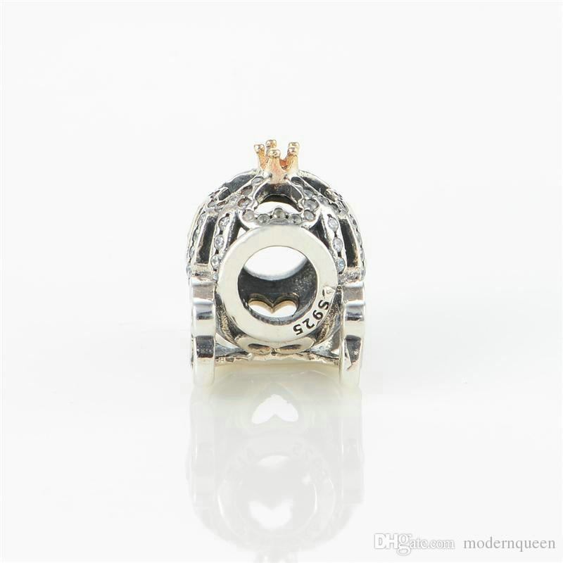 Charms de calabaza Beads 925 Sterling Silver Fits Bricolaje y collar 791573cz H9