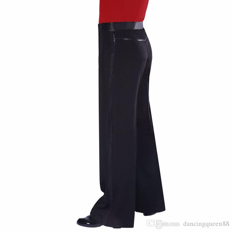 2018 Nueva llegada Pantalones de baile latino Pantalones de baile de salón para hombre Cha Cha / Rumba / Samba Pantalones