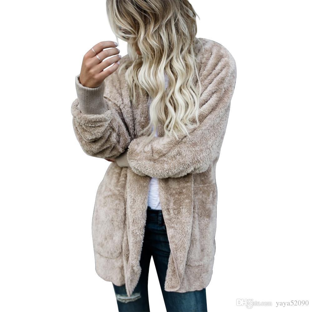 Inverno das Mulheres de Pele De Raposa Casaco Jaqueta Petite Peacoat Outwear Das Senhoras de pele com capuz Moda Manga Longa Casacos Parka Trench Coats Curto Outwear Quente