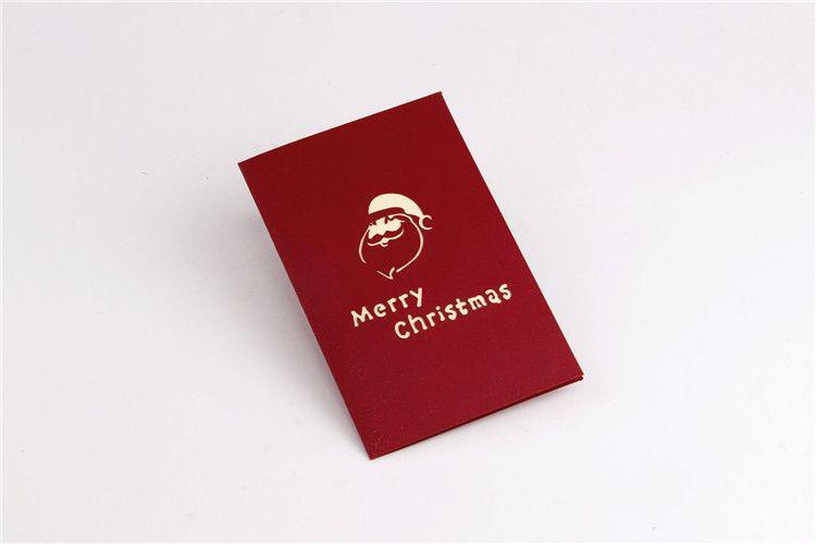 New Handmade Christmas Cards Creative Kirigami & Origami 3D Pop UP Greeting Card with Santa Ride Desgin Postcards