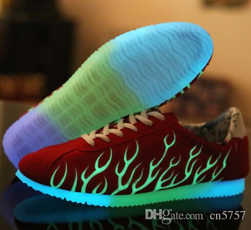 Light Up Shoes For Lovers Casual Men Shoes Breathable Outdoor ... 8283ecd7222d
