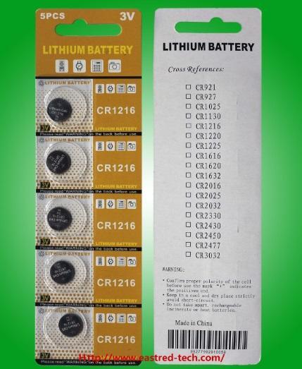 250cards / 3.0V CR2450 de litio pilas de botón LR44, 400cards 40Cards CR1216, CR1632 40Cards