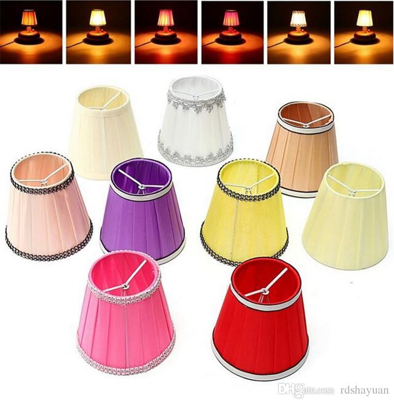 12cm 현대 패브릭 Colth 샹들리에 램프 음영 홀더 침대 램프 옆에 Sconce 테이블에 걸려 가벼운 전등 갓 9 색상을 교수형