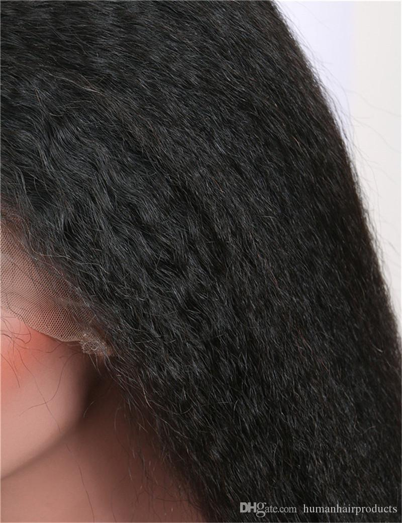 Lace Wigs For Black Women 100 Unprocessed Kinky Straight Full Lace Mongolian Human Hair Wigs Glueless FDSHINE HAIR