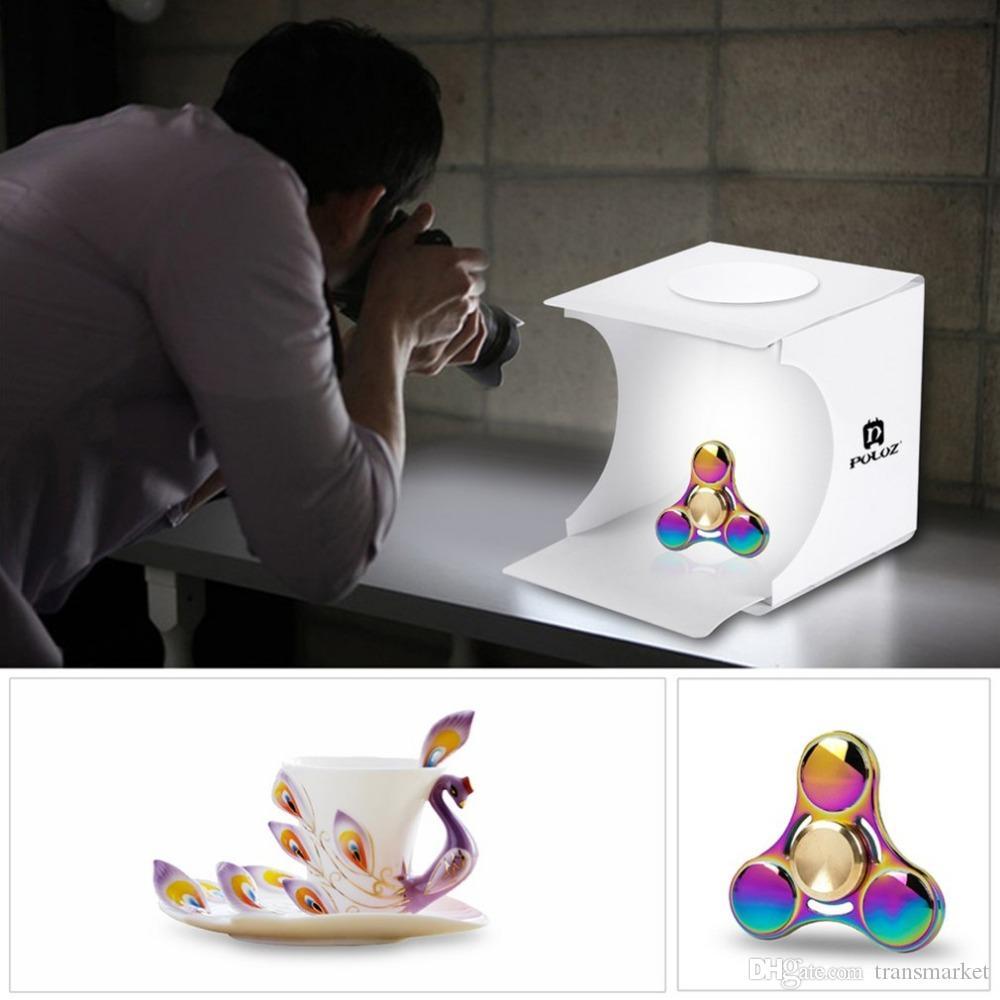 مصغرة الصور ستوديو صندوق التصوير خلفية المدمج في ضوء مربع الصورة البنود الصغيرة التصوير الفوتوغرافي مربع الملحقات