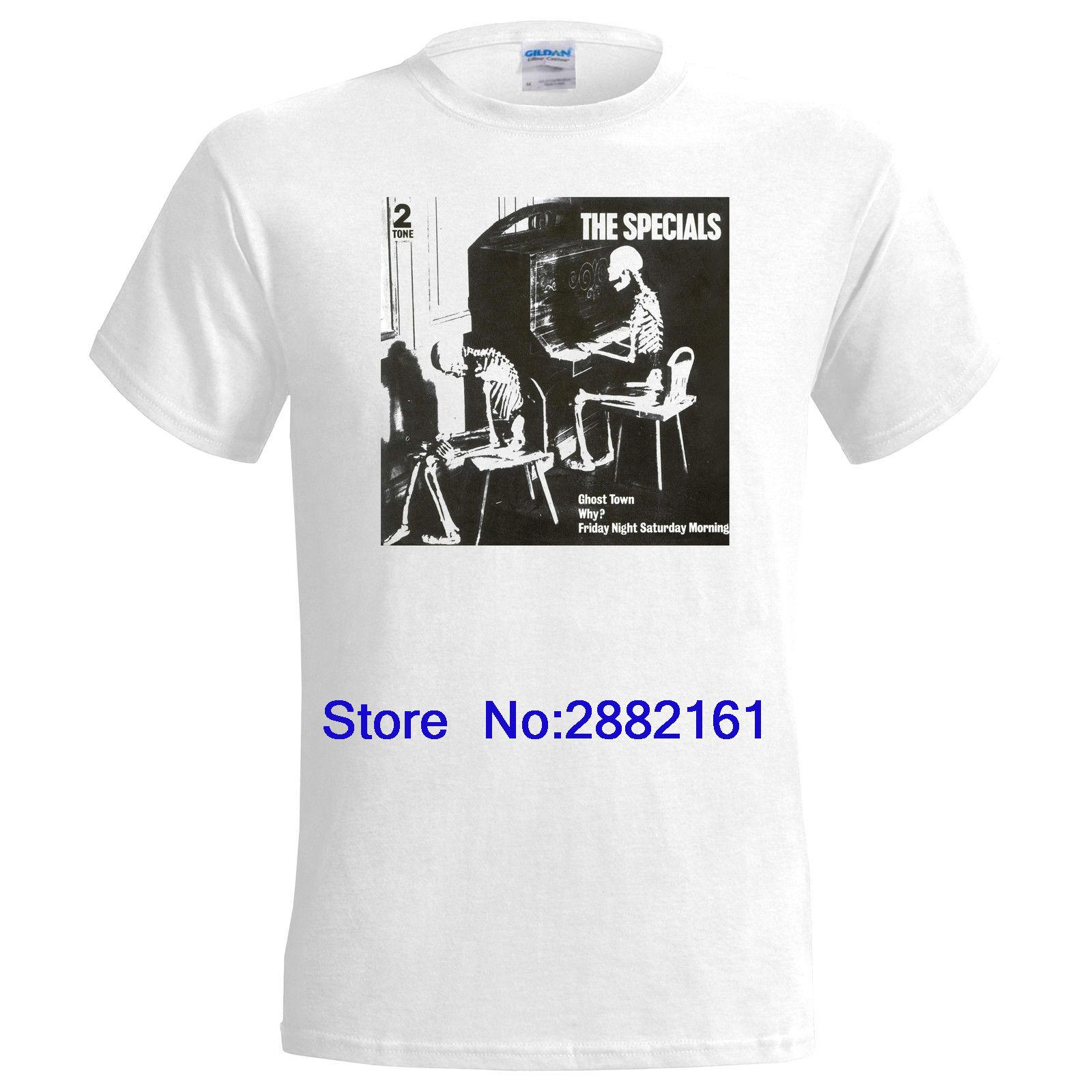 e0f18a42 The Specials Ghost Town Mens T Shirt 2 Tone Ska Madness The Beat Rude Boy T  Shirt Men Tees Brand Clothing Funny Tees Shirts T Shirt Site From  Beidhgate02a, ...