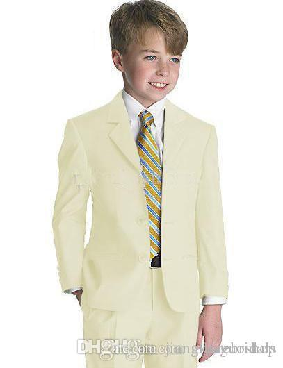 Ragazzi Tuxedo / Boys Abbigliamento Abbigliamento Commercio all'ingrosso - Abbigliamento bambini Nuovo Stile Completo Designer Completo Boy Wedding Suit / Abbigliamento ragazzi Giacca + Pantaloni + Tie + Camicia