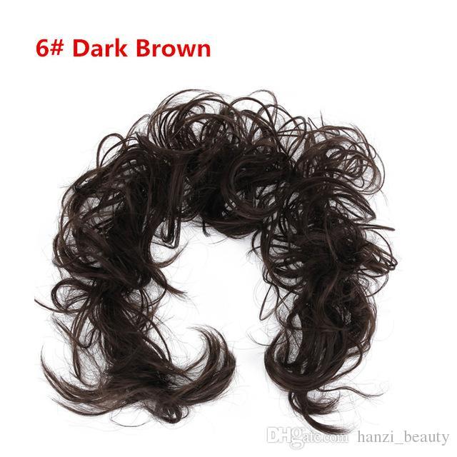 Sentetik Yüksek Sıcaklık Fiber Saç Bağları Kıvırcık Scrunchie Saç Bang At Kuyruğu Çok yönlü Updo saç Aksesuarları