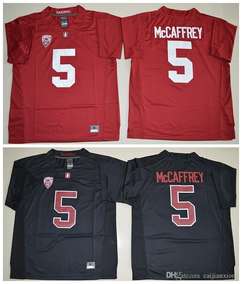 ... best 5 christian mccaffrey jersey 2016 new mens season stanford  cardinal jerseys high red black stitched 283e3a5ee