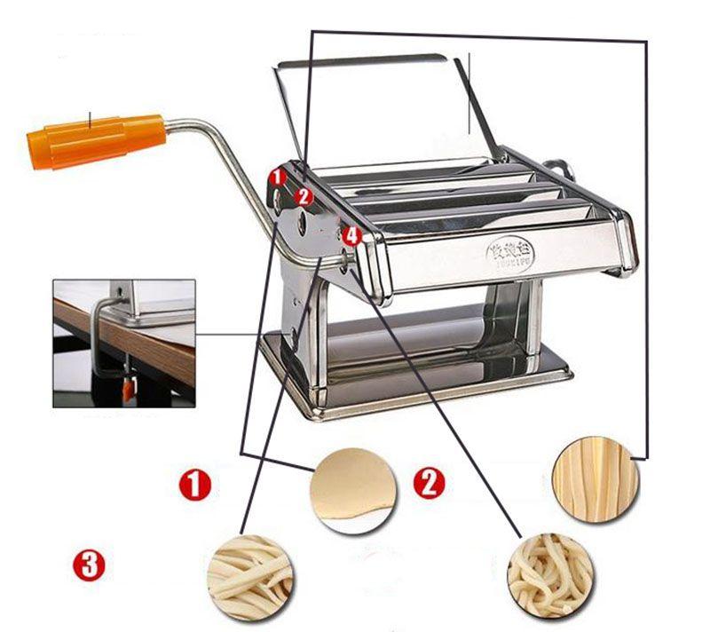 pasta maker machine homemade Spaghetti ravioli noodle making press slicer spiralizer dough cutter chopper 2 blade kitchen gadgets appliances
