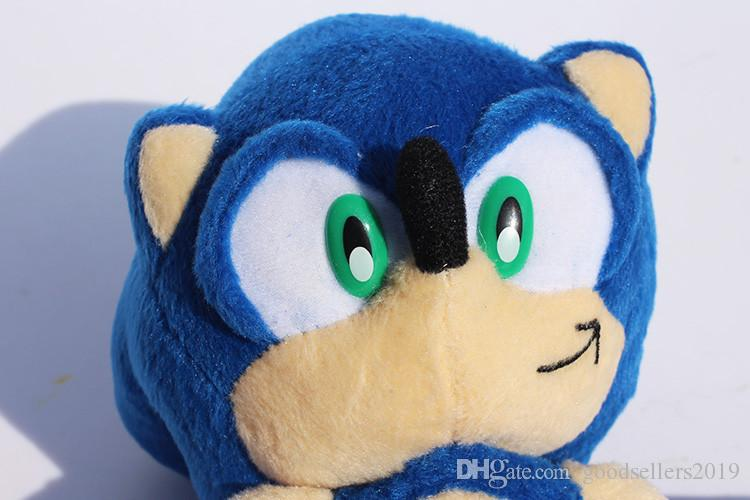 "2017 hot 9""23cm Blue Sonic the Hedgehog Stuffed Animals Plush Toys Soft Doll For Children Toys Gifts"
